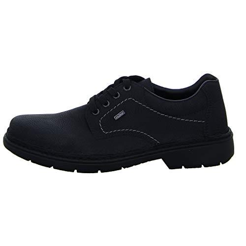 Schwarz 01 Homme pour Rieker Noir Noir Chaussures Ville Lacets de à 05000 v6Oqx6wp