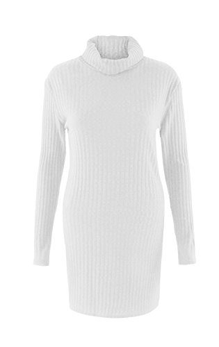 linemoon-womens-sexy-high-collar-long-sleeve-knitted-sweater-dress-white-l