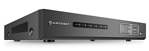 Amcrest 4MP HD-Analog 8CH Video Security DVR Digital Recorder, UltraHD 8-Channel 4 Megapixel, HD Analog, Hard Drive & Cameras NOT Included, Remote Smartphone Access, Security Camera System (AMDV4M8) Four Channel Dvr