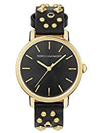 Rebecca Minkoff BFFL Quartz Stainless Steel and Strap Casual Watch, Color: Black (Model: 2200052)