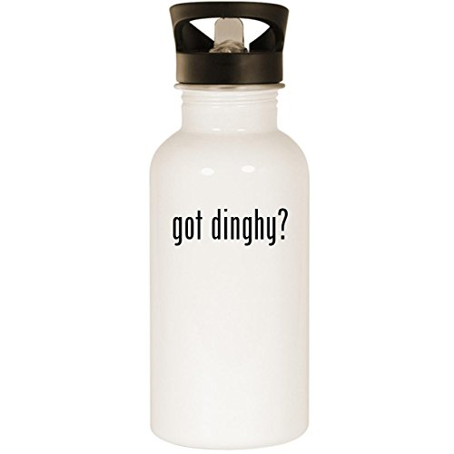 (got dinghy? - Stainless Steel 20oz Road Ready Water Bottle, White)