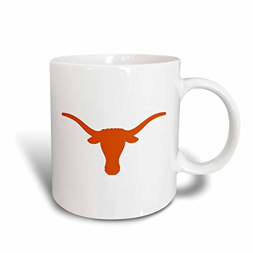 Longhorn Coffee Mug - 3dRose Longhorns Ceramic Mug, 15-Ounce