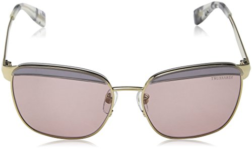 Trussardi, Lunettes de Soleil Femme Pink (Shiny Grey Gold)