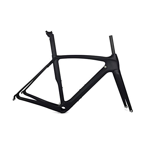 Fasteam UD Matt BB386 Carbon Frame for Road Bicycle with Full Carbon Fiber Fork - Carbon Full Frame Road