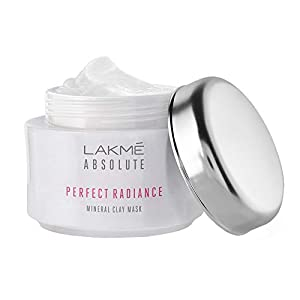 Lakme Absolute Perfect Radiance Mineral Clay Mask, Skin Brightening Face Mask, Removes Oil And Impurities, 50 g