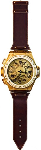 Shaba Designs Wall Clock Wrist Watch with Moving Gears - Nearly 6 FT with Removable Textured Bands