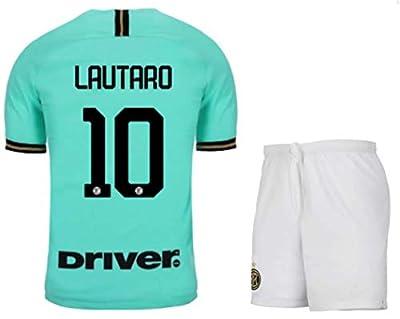 Fimng Lautaro Martínez #10 2019-2020 Inter Milan Men's Away Soccer Jersey/Short Colour Green