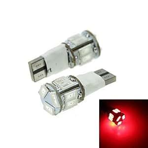 KLM T10 LED de 2 modos rojo 5w 11x5630smd 550lm de la luz de freno del coche (DC12-16V)