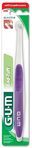 GUM End-Tuft Soft Tapered Trim Toothbrush 308RQB