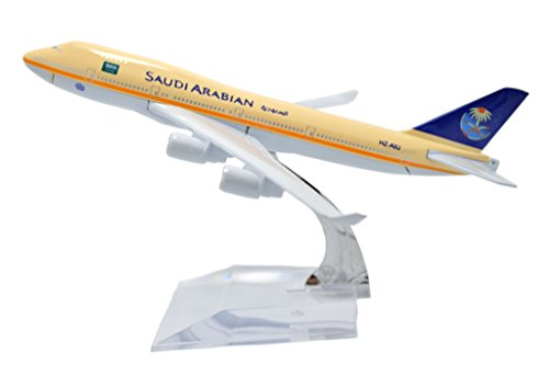 TANG DYNASTY(TM) 1:400 16cm Boeing B-747 Saudi Arabian Airlines Metal Airplane Model Plane Toy Plane Model
