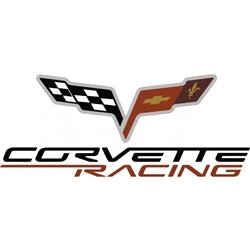 corvette accessories unlimited c6 corvette racing logo red white black small decal. Black Bedroom Furniture Sets. Home Design Ideas