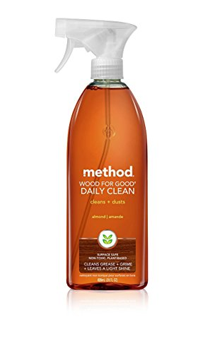 Method Daily Wood Spray 28oz, Almond 2 - Cherry Stained Finish American