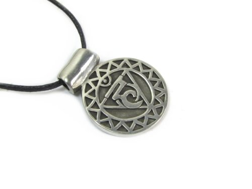 Visudda, the Throat Chakra Pendant on Corded Necklace Pendant Corded Necklace