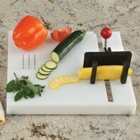 Etac Deluxe One-Handed Paring Board With Rocker Knife (Cutting Boards For Handicapped)