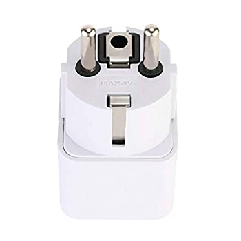 World Travel Adapter Set with Portable Bag for Europe Germany France Russia Egypt Finland Belarus Austria Belgium Italy Korea Poland & more (Does Not Convert Voltage) (DE plug)