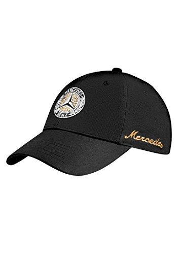 Swarovski Cap Cotton (Mercedes Benz Classic Women's Hat w/Vintage Star & Trimmed w/Swarovski Crystals)