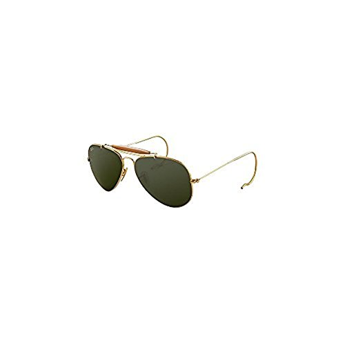 Ray-Ban Outdoorsman RB3030 Sunglasses Arista / Crystal Green 58mm & Cleaning Kit - Ray Ban Used