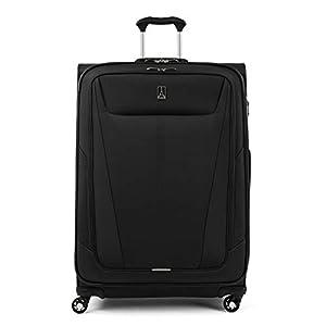 Travelpro Maxlite 5-Softside Expandable Spinner Wheel Luggage, Black, Checked-Large 29-Inch