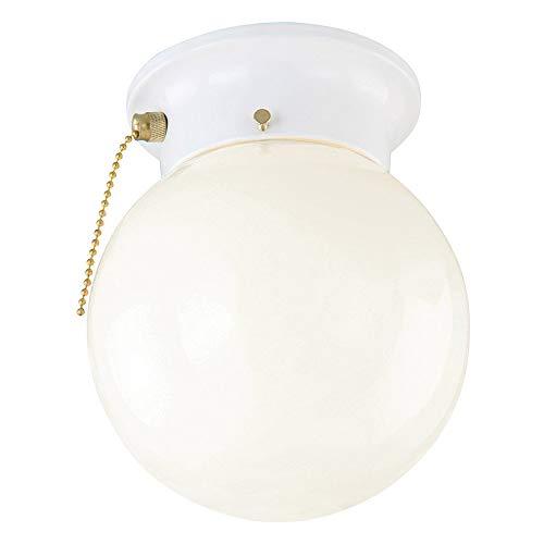 Design House 510040 1 Light Ceiling Light, White