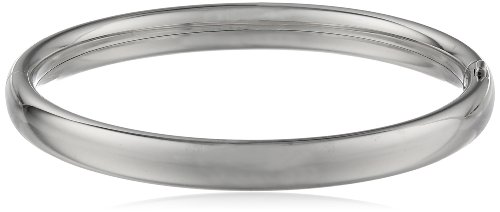 Sterling Silver Polished Hinged Baby Bangle Bracelet (Sterling Silver Hinge Bracelet)