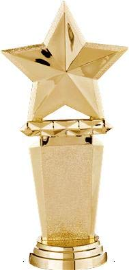 Crown Awards Megastar Gold Star Trophies Personalized Gold Star Trophy with Custom Engraving Included Prime
