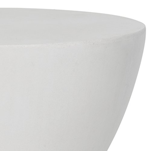 Safavieh Outdoor Collection Athena Modern Concrete Round 17.7-inch Accent Table Ivory by Safavieh (Image #3)