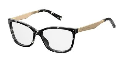 - Marc Jacobs Plastic Rectangular Eyeglasses 54 09WZ Havana Black Crystal
