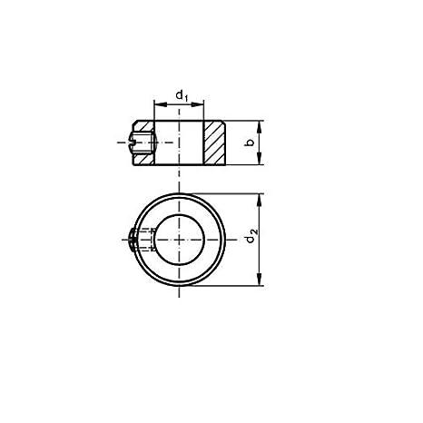 verzinkt Stellringe 1 St/ück Stellring 12 x 22 x 12 mm DIN705 Stahl galv