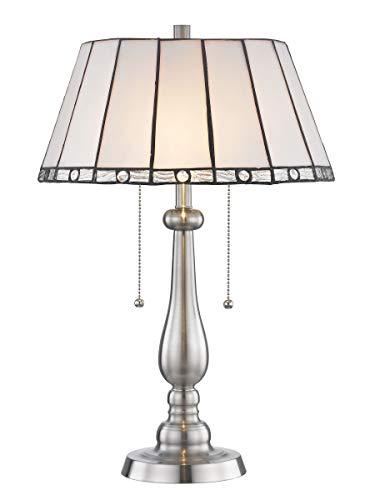 - Dale Tiffany STT17025 Adrianna Tiffany Table Lamp Brushed Nickel