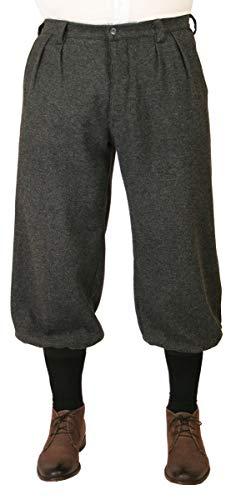 (Historical Emporium Men's Wool Blend Herringbone Tweed Knickers 30 Gray)