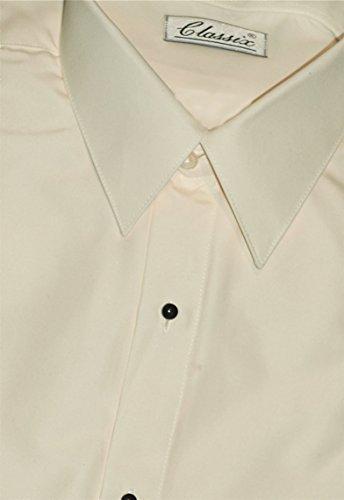 "Tuxedo Shirt - Microfiber Ultra Laydown Collar, Ivory (16.5"" Neck 36/37"" Sleeve)"