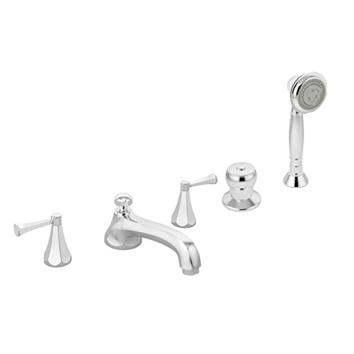 Symmons SRT-4572 Canterbury 2-Handle Deck Mount Roman Tub Faucet with Hand Shower in Polished Chrome