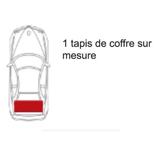1 Tapis de coffre GRIS Gamme Tapis LUXE GT du 10.12 au ce jour sur mesure Tapis CLIO 4