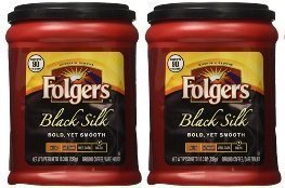 French Silk Flavored Coffee - Fresh Taste of Folgers Coffee, Black Silk Flavored Ground Coffee, Bold Yet Smooth, Dark Roasted 10.3 Oz Canister - (2 pk)