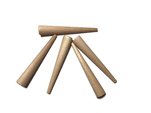 Wooden Peg or Spline for Chair Caning (24 Pack) | Cane Chair Supplies, Wicker Repair Supplies, Cane Webbing, Peg for Hand Weaving Cane Chairs | S-810