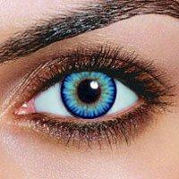 Farbige Sky Hellblaue Kontaktlinsen + 1 GRATIS Behälter Jahreslinsen Blaue Kontaktlinsen Karneval Blaue Kontaktlinsen Halloween