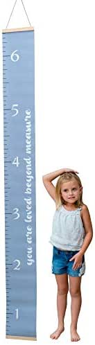 Adorable Kids Growth Chart by Morxy | Super Cute Children's Reusable Height Chart | Easy to Install Personalized Toddler Development Chart | Fun & Unisex Design | Track Your Baby's Growth