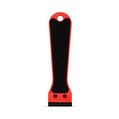 "2 Plastic Razor Scraper 6/"" Long Handle EVA Foam with 100 Double-Edge 1.5/"" Blade"