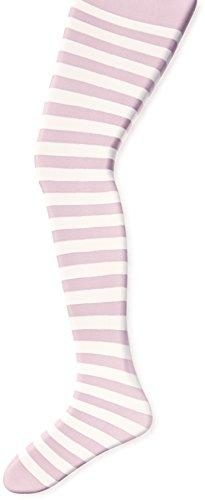 Jefferies Socks Little Girls' Stripe Tights, Pink/White, 2-4 -