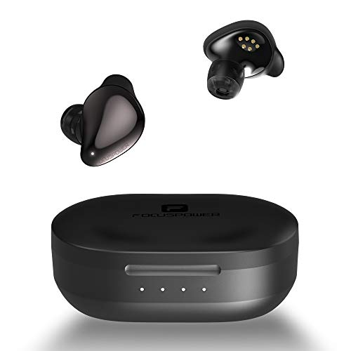 Bluetooth Earbuds,FOCUSPOWER-F16 Bluetooth 5.0 True Wireless Earbuds with Charging Case, 24H Playtime 3D Stereo Deep Base Audio in-Ear Bluetooth Headphones, Built-in Mic