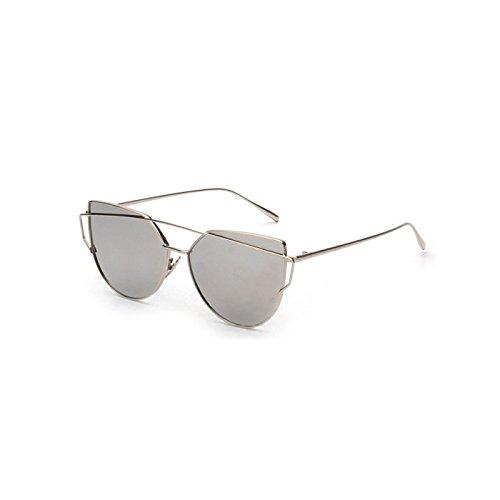 CTao La De Gafas del Océano del UV Pink Sol Redondas Sol Película De Las De Gafas Gato UV400 De Protección Grey SrzqFw1S
