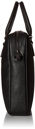 Armani Exchange Men's Saffiano Embossed Briefcase, Black by A|X Armani Exchange (Image #3)