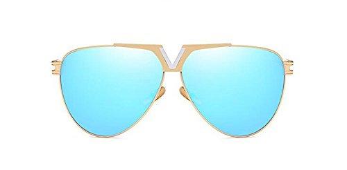 de en Métallique Bleu Inspirées Lunettes Femmes du Rond et Style Polarisées Glacier Steampunk Cercle Soleil Hommes Retro Pour 8vHad