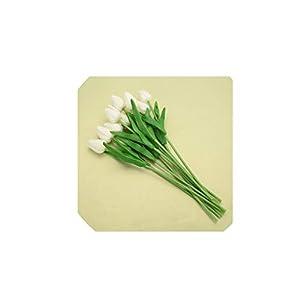 10pcs Artificial Tulip Flowers Wedding Decoration PU Leather Tulip Flower Bouquet for Wedding Party Decoration Decorative Flower,2 10