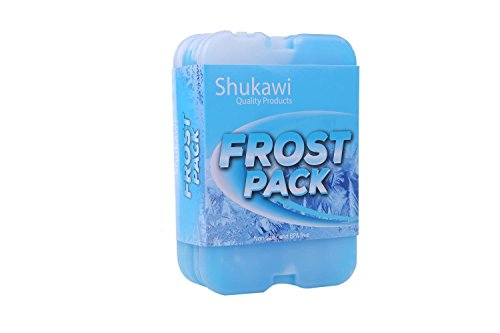 Frost Packs: Premium Cooler Pack Set of 4 Reusable Ice Packs for Coolers & Lunch Boxes Thin, BPA-Free, Non-Toxic & Safe Freezer Packs/ Sturdy, & Long-Lasting Freezer Packs