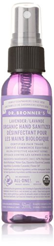 Dr. Bronner's Hand Sanitizer - Lavender - 2 Oz 1 Bath and Body Soap Hand Sanitizer CERTIFIED ORGANIC AND VEGAN. Certified organic by the USDA National Organic Program and certified Vegan by Vegan Action. Dr. Bronner's is also a proud supporter of animal advocacy organizations, and is Leaping Bunny certified cruelty-free