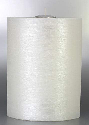 240 x 65 mm weiss Kerzenrohling Kerze Formenkerze Elypse mittel