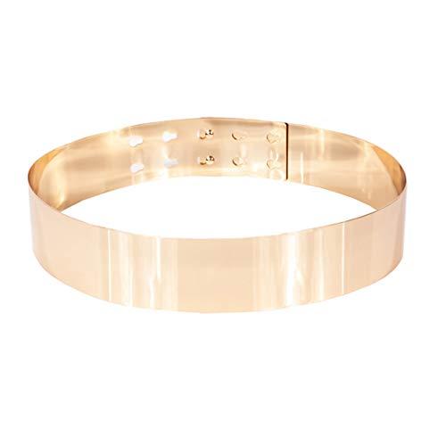 Shengweiao Sleek Gold Mirror Metal Waist Belt (Fit to waistline 28