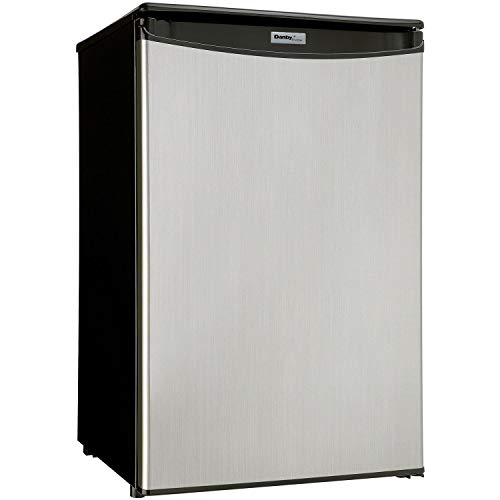 Danby DAR044A5BSLDD Compact Refrigerator, Spotless Steel Door, 4.4 Cubic Feet (Renewed)