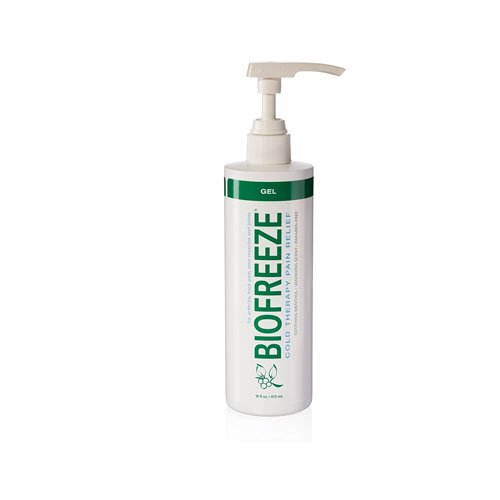 Biofreeze Pump (Biofreeze Pain Relief Gel for Arthritis, 16 oz. Bottle with Pump, Fast Acting Cooling Pain Reliever for Muscle, Joint, & Back Pain, Cold Topical Analgesic with Original Green Formula, 4% Menthol)